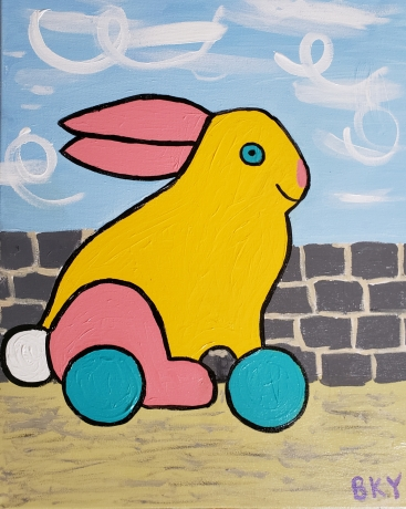 Bunny on Wheels Takes Off