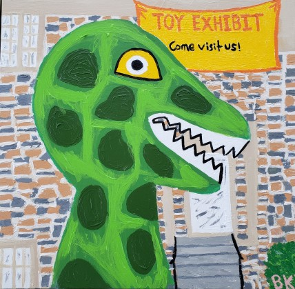 Play Dinosaur Morphs into a Real One and Visits the Museum