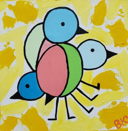 Bird in a Cubist Mood on a Sunny Day